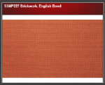 Wills SSMP227 Brickwork, English Bond